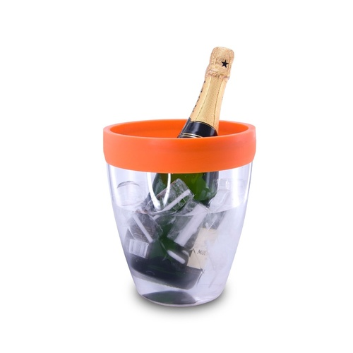 Pulltex Silicone Top Ice Bucket - Orange