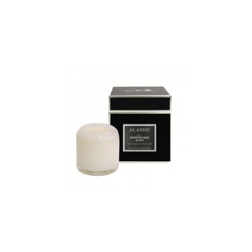 Alassis Large No. 1 Honeysuckle & Lily Double Wick Round Candle