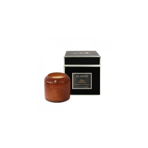 Alassis Large No. 5 Amber & Vanilla Double Wick Round Candle
