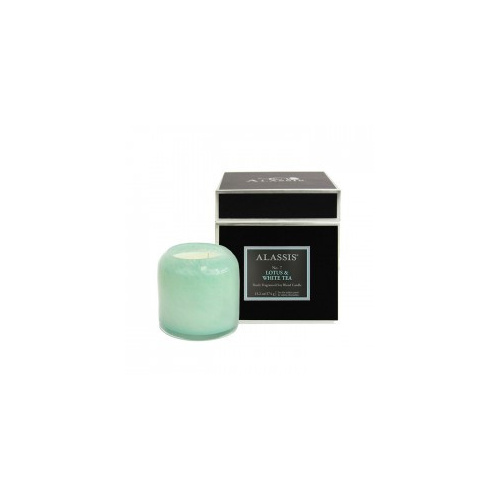 Alassis Large No. 7 Lotus & White Tea Double Wick Round Candle