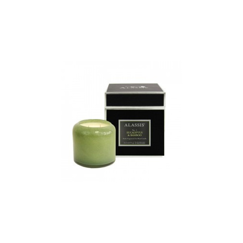 Alassis Large No. 3 Eucalyptus & Bamboo Double Wick Round Candle