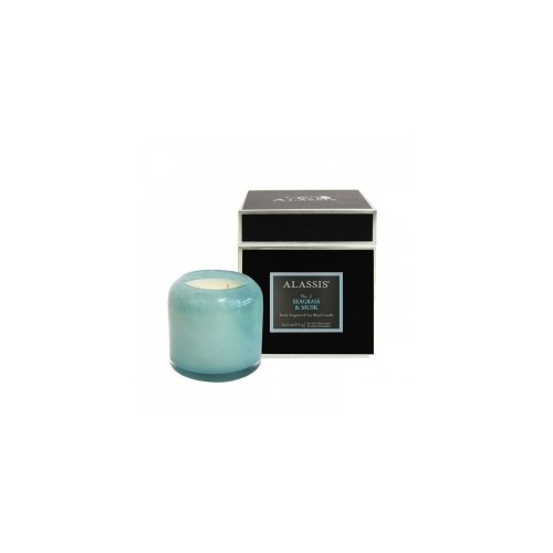 Alassis Large No. 2 Seagrass & Musk Double Wick Round Candle