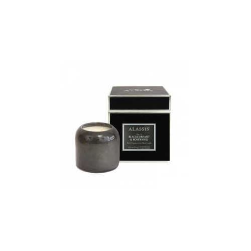 Alassis Large No. 8 Blackcurrant & Rosewood Double Wick Round Candle