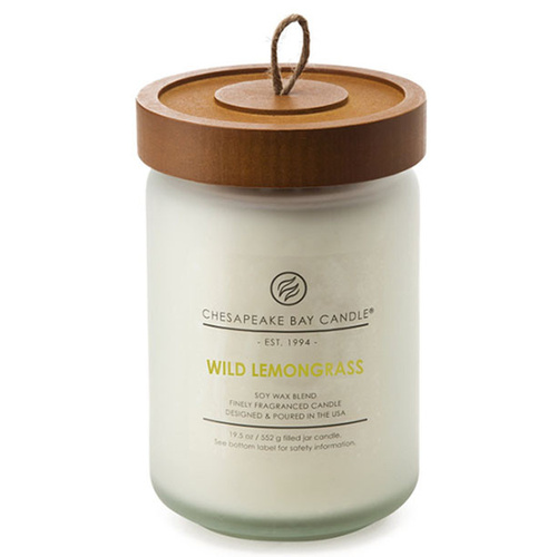 Chesapeake Bay Large Jar Candle Wild Lemongrass