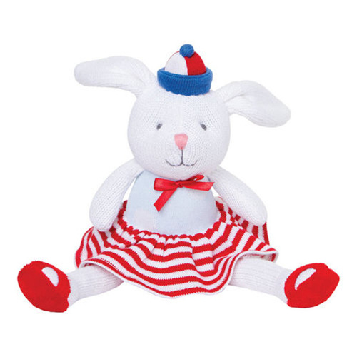"Elegant Baby 10"" Nautical Bunny Knitted"