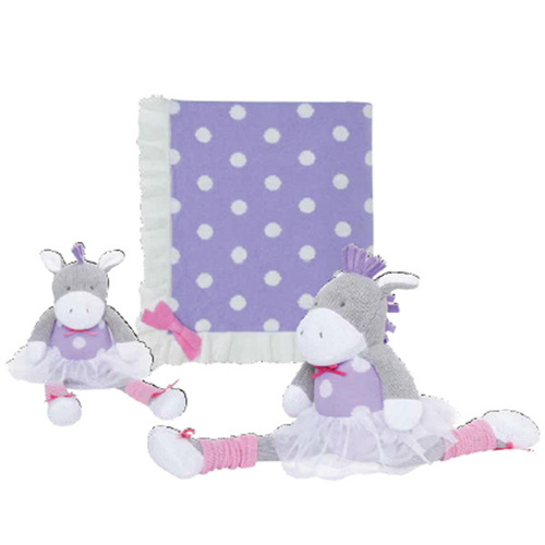 Elegant Baby Blanket With Ruffle Lavender