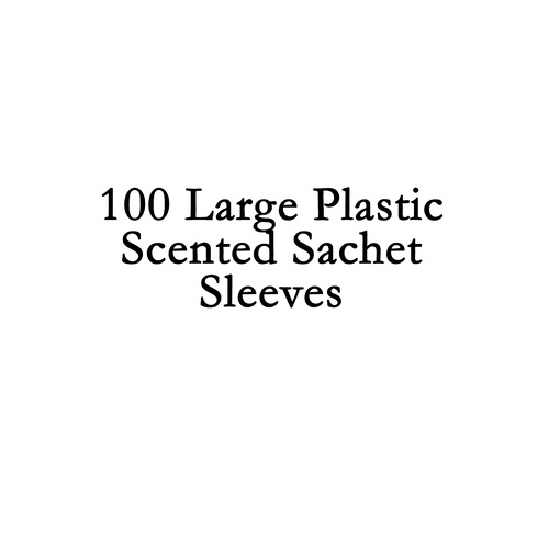 Sachet Plastic Sleeves Large - 100