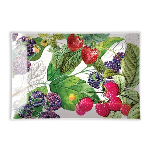 MDW Glass Rectangle Soap Dish - Berry Patch