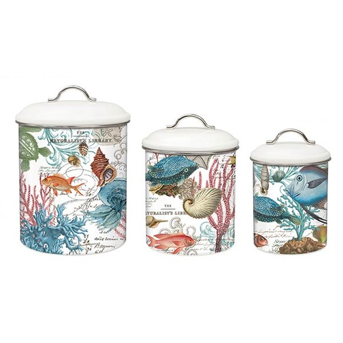 MDW Canisters Set of 3 - Sea Life