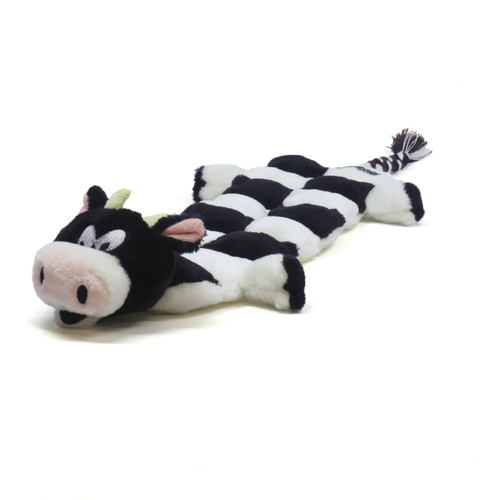 Kyjen Long Body Squeaker Mat Cow Large