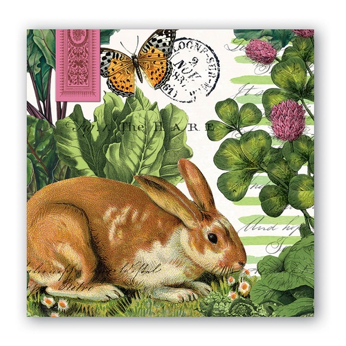 MDW Cocktail Napkins - Garden Bunny