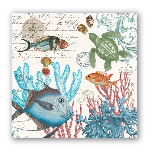 Michel Design Works Cocktail Napkins - Sea Life