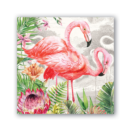 MDW Cocktail Napkins - Flamingo