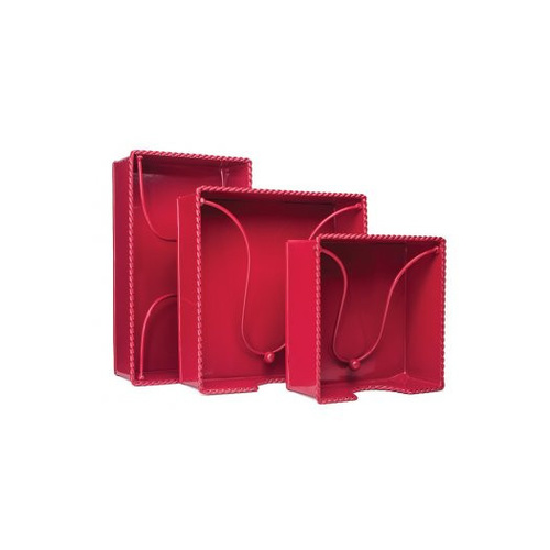 MDW Tin Napkin Holder Hostess - Red
