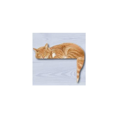 Padblock Cat Corner Sleeping Cat Ginger