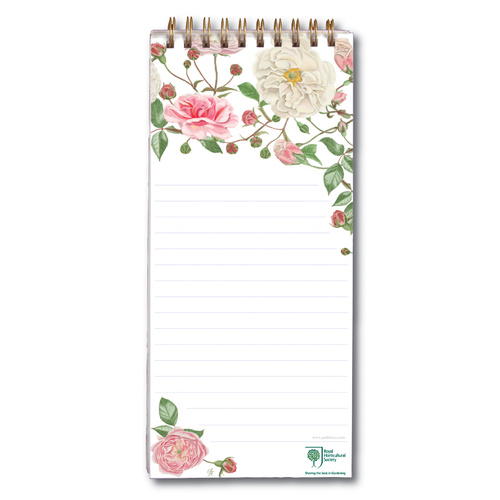 Magnetic Shopping List RHS White Roses