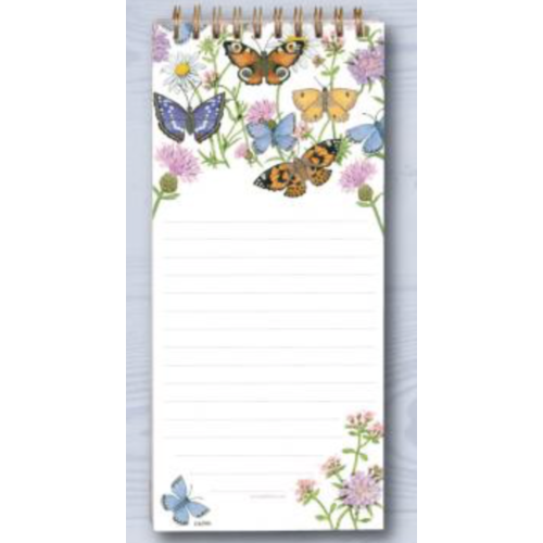 Magnetic Shopping List Butterfly Garden