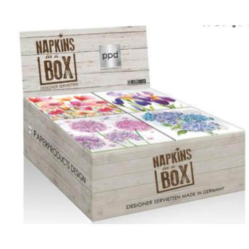 PPD Napkins - Aquarell Flowers (Box 24)