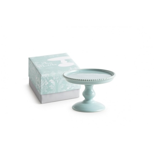Rosanna Teal Small Beaded Pedestal