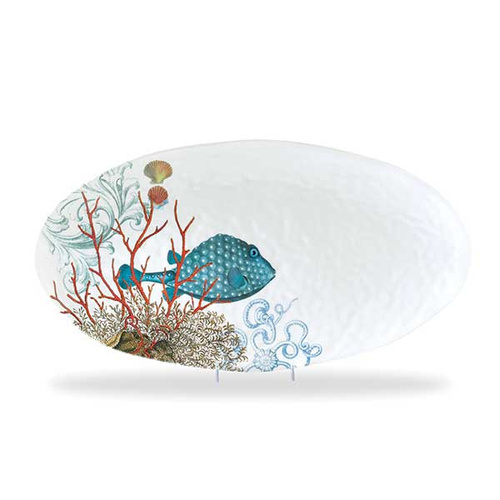 Michel Design Works Melamine Sea life Oval Platter
