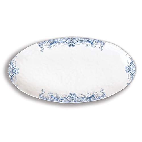 MDW Melamine Antique Scroll Oval Platter