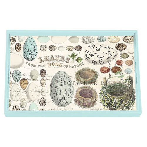 MDW Wooden Decoupage Vanity Tray - Nest & Eggs