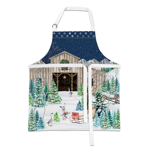 *Apron Christmas Snow Michel Design Works