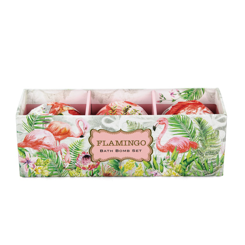 *Bath Bomb Set Flamingo Michel Design Works
