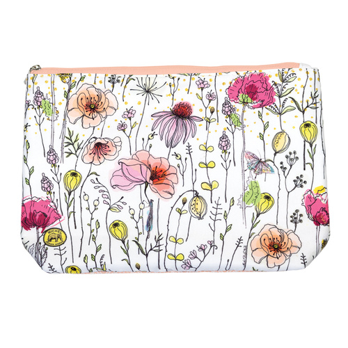 *Cosmetic Bag Large Posies Michel Design Works