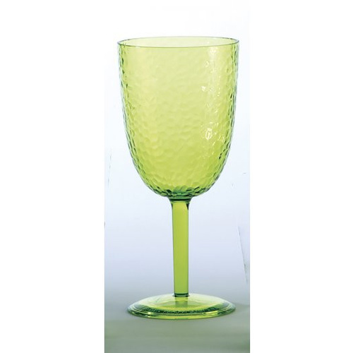 Certified International Set of 4 Green Picnic Wine Glasses