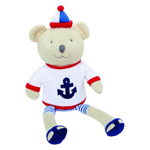 "Elegant Baby 15"" Nautical Bear Knitted"