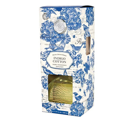 *Home Fragrance Diffuser Indigo Cotton Michel Design Works