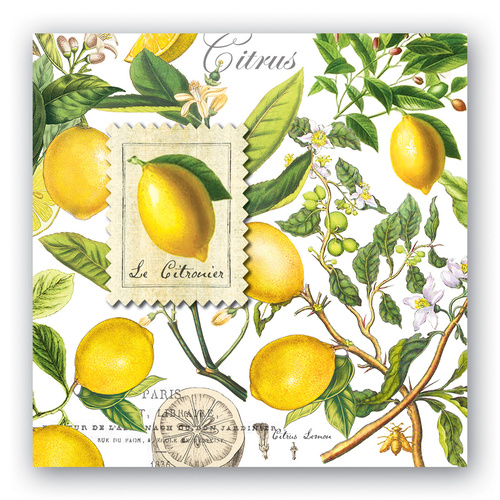 *Luncheon Napkins Lemon  Basil Michel Design Works