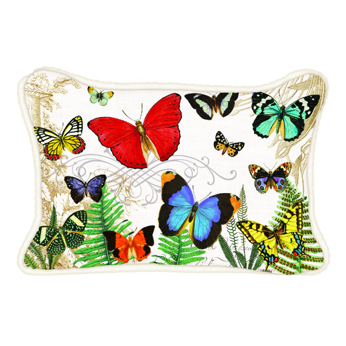 MDW Decorative Pillow Rectangle - Papillon