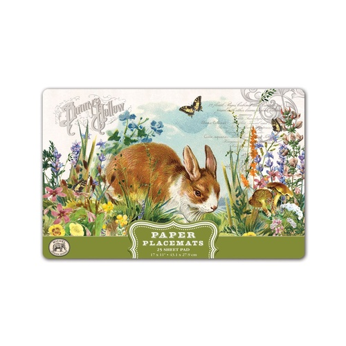 *Paper Placemats Bunny Hollow Michel Design Works