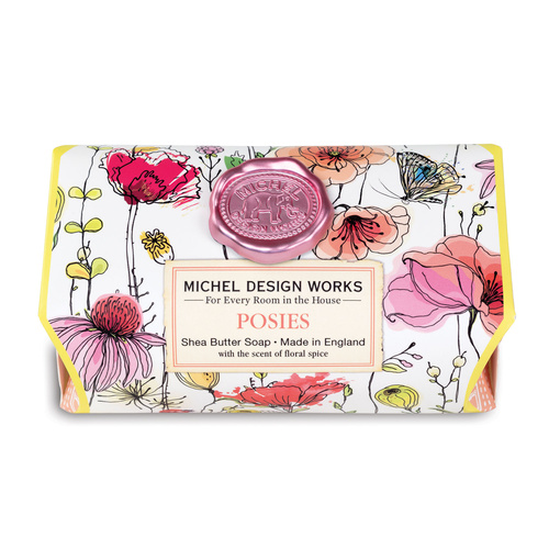 *Large Soap Bar Posies Michel Design Works