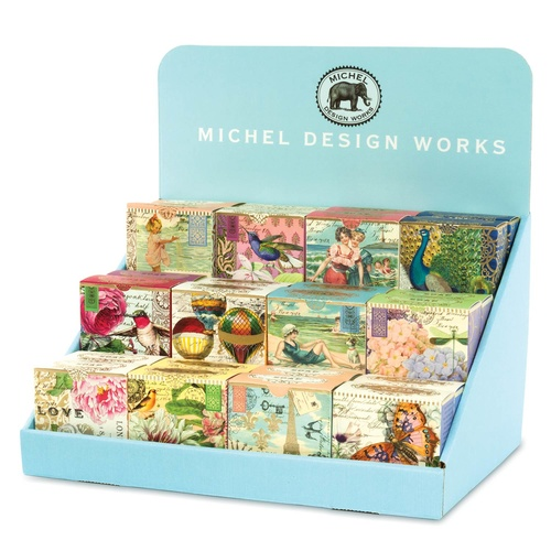 MDW A Little Soap CDU for 24pc - MDW Cardboard Counter Display for A Little Soap - including 48 little soaps in 8 various designs