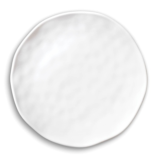 *Melamine White on White Accent Plate Michel Design Works