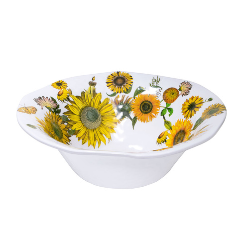 *Melamine Sunflower Bowl Large Michel Design Works