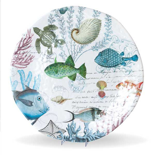 *Melamine Sea Life Platter Large Michel Design Works
