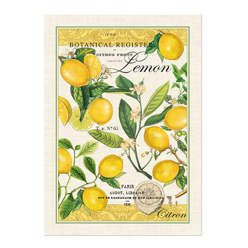 *Teatowel Lemon Basil Michel Design Works