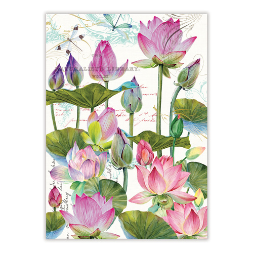 *Teatowel Water Lilies Michel Design Works