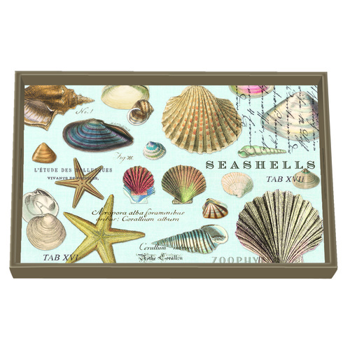 MDW Wooden Decoupage Vanity Tray - Seashells